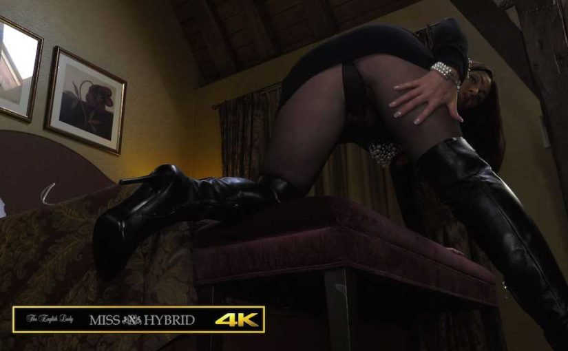 Miss Hybrid Giantess Mistress In Leather Thigh Boots