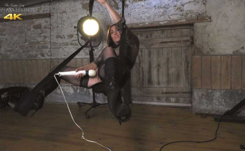 Dungeon Sex Swing, Stockings And Boots