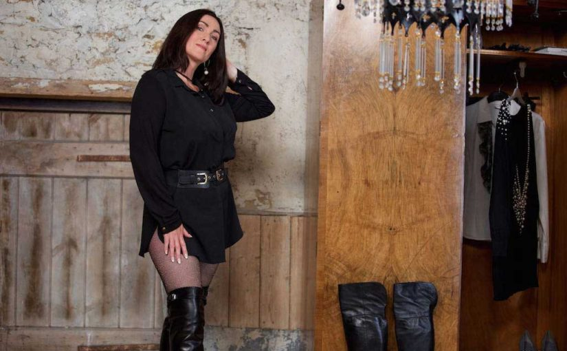Well Heeled Mistress, Leather Thigh Boots